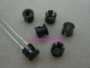 100pcs 3mm Black Plastic LED Clip Holder Case Cup Mounting Holders for 3MM LEDs