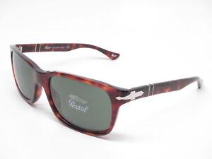 d0f5aa9ff7f Persol PO 3048S 24 31 Havana w Crystal Green Sunglasses 3048-S 58mm ...