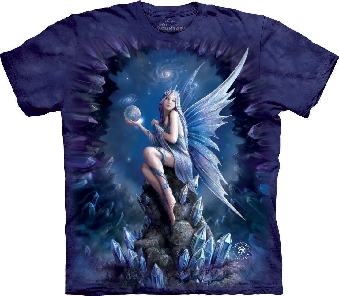 NEW STOKES STARGAZE Fairy Crystal Ball Anne Stokes The Mountain T Shirt