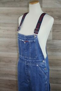 1b1a2589 Image is loading Tommy-Hilfiger-Womens-Overalls-Vintage-Spell-Out-Straps-