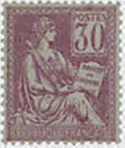 FRANCE-STAMP-TIMBRE-N-115-034-MOUCHON-30-C-VIOLET-034-NEUF-x-TB