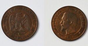 Münze Frankreich 10 Centimes Dix Centimes Napoleon Iii 1854 K Ebay