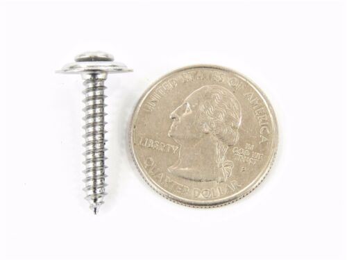 """Chrome #8 Loose Washer Trim Screws For Nissan #332 Qty.75 3//4/"""" to 1-1//4/"""" Long"""