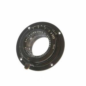 """Vintage Carl Zeiss Jena 15cm F/4.5 Tessar """"A"""" Focus Mount Barrel Lens - UG"""