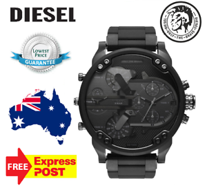 DIESEL-Men-039-s-Mr-Daddy-2-0-Black-Dial-Silicone-Band-mens-Watch-DZ7396