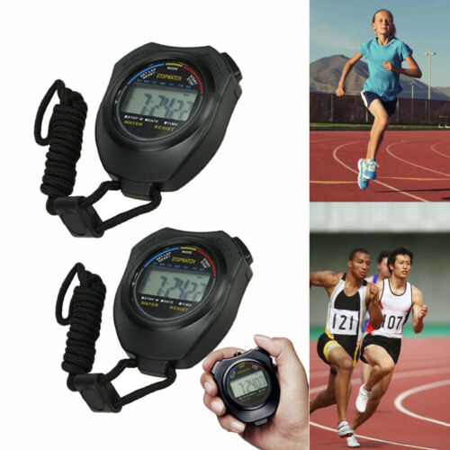 Lot Sports Stopwatch Timer Countdown Timer 12//24 Hour Clock Calendar with Alarm