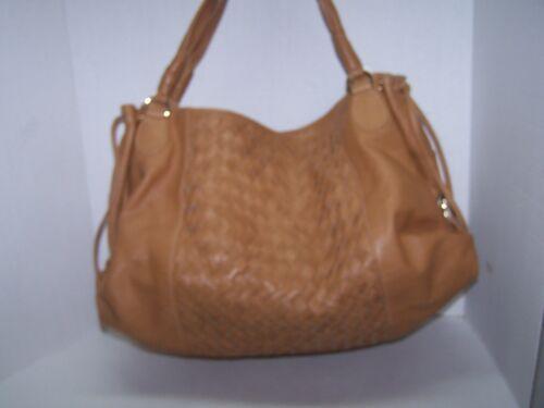 Zina Eva XL Intreccio Woven Camel Leather Dual Str