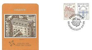 Belle Danemark 1978 First Day Cover, Europa, Jen Bang House, Fredereksborg Castle Distinctive Pour Ses PropriéTéS Traditionnelles