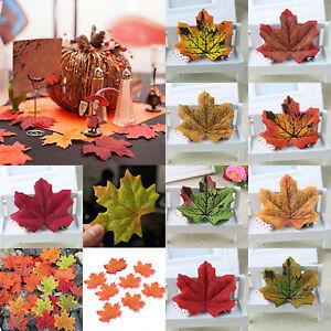 Autumn-Maple-Leaf-Fall-Fake-Leaves-Craft-Wedding-Party-Halloween-Xmas-Decoration