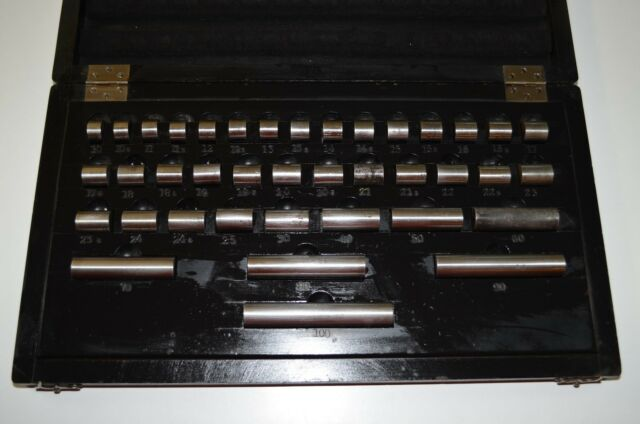 Endmaße, Feinschliff-Masse 0,01mm,  39 Teile, RHV6711,