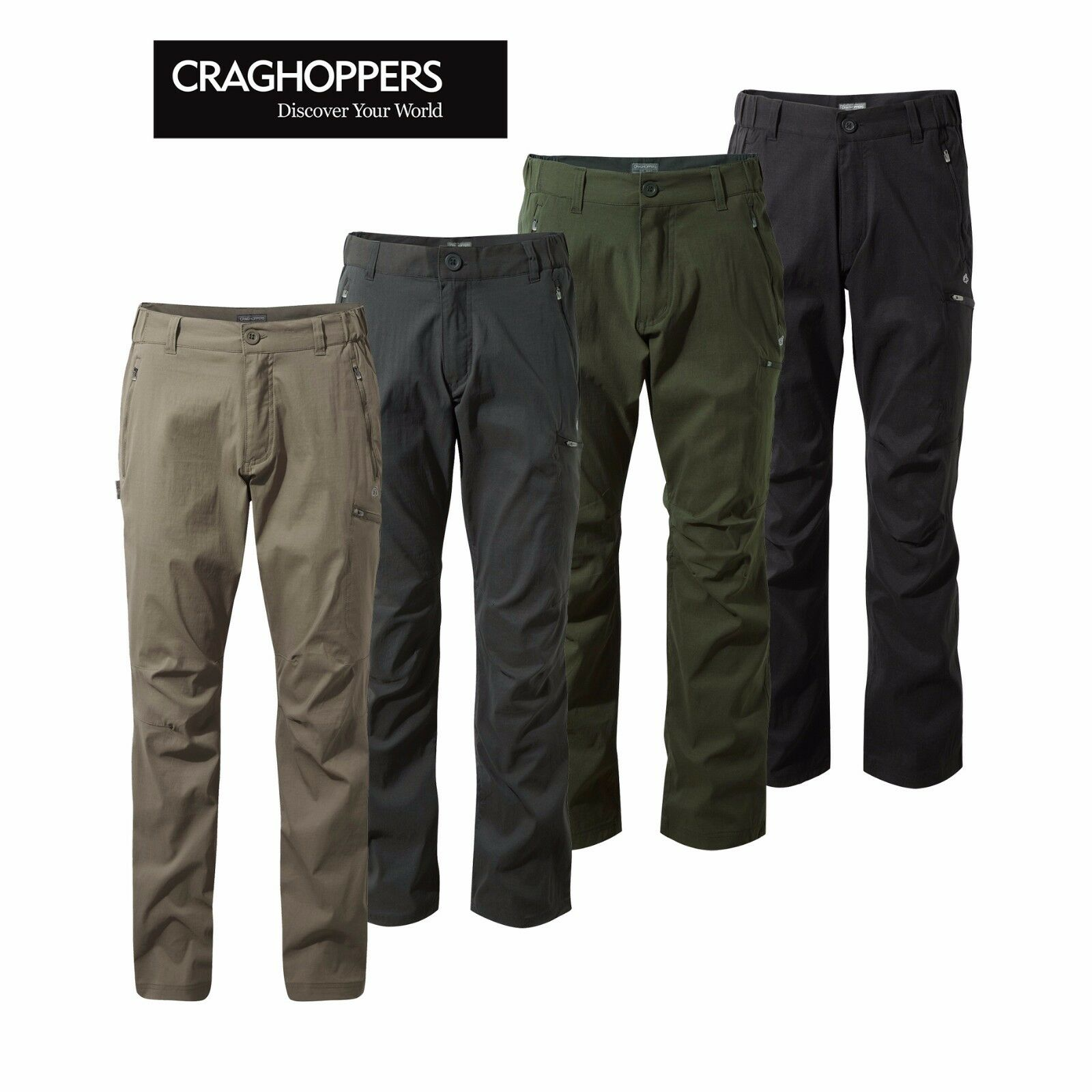 Craghopppers Mens Kiwi Pro  Active Full Stretch Casual Walking Trouser 30-42  cheap store