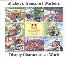 St. Vincent 1996 DISNEY/Train/Plane/Cycle/Car/Bike/Tram/Transport 8v sht n18914