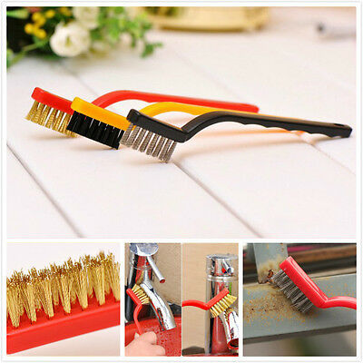 3pc Cleaning Nylon,Copper,Stainless steel Brushes Kitchen Cleaner Tools Gadgets