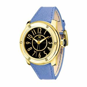 Glam-Rock-AquaRock-Womens-Watch-42mm-Bracelet-Leather-Blue-Battery-GR50007F-NEW