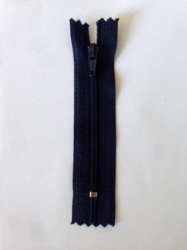 "1 Zipper Plastic Black Grey Navy Brown Tan Pink 3 1//2/"""