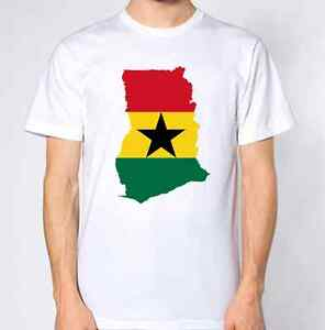GHANA-nuovo-Paese-T-shirt-Bandiera-Top-CITY-MAP