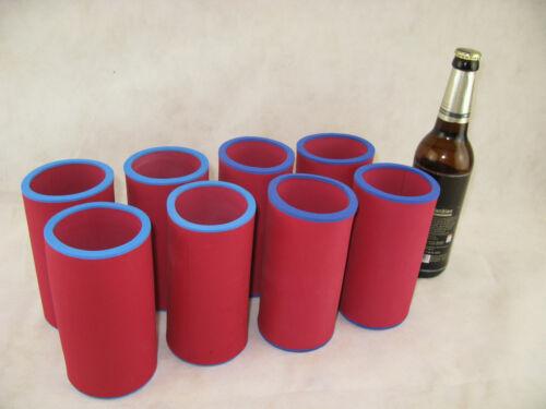 8x 0,5 L Bouteilles Refroidisseur bierkühler Boissons Refroidisseur Refroidisseur en néoprène top qualité rouge