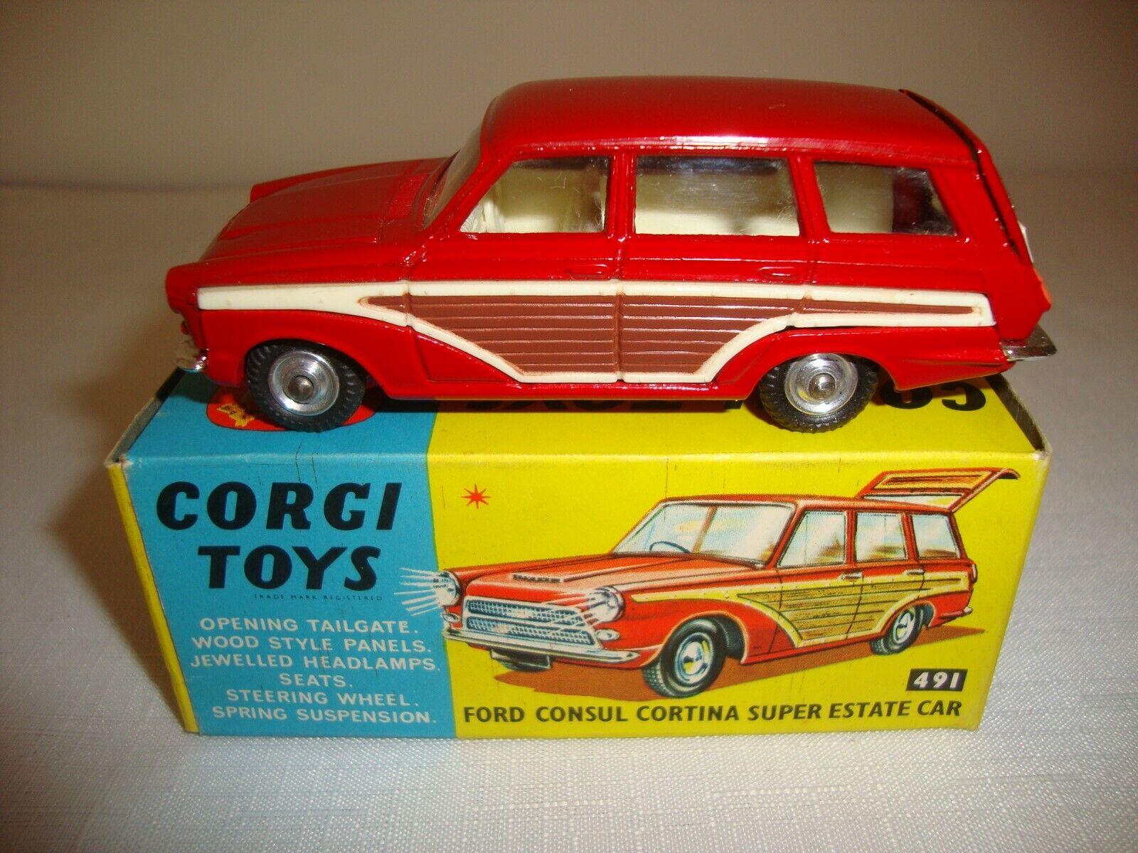 CORGI 491 ford consul cortina super estate car-nr Comme neuf in original box