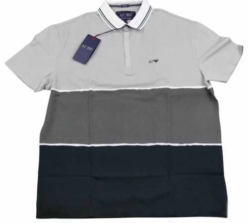 Armani Jeans noir H Sz shirt s Xxl Xxxl T Gris Hommes Polo rrdtq