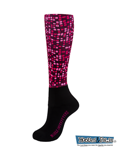 Noble Outfitters Peddies Socks Over the Calf Fig Pink Merlot Burgundy Women/'s