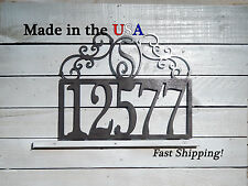 Mailbox Topper Monogram Address Plaque with Scrolls and Mounting Tabs HN1075