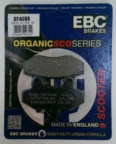 KSR Vertigo 50 (2012 to 2014) EBC Organic FRONT Disc Brake Pads (SFA86) (1 Set)