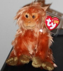 58ef7549a75 Ty Beanie Baby ~ CAIPORA the WWF Golden Lion Tamarin (Internet ...
