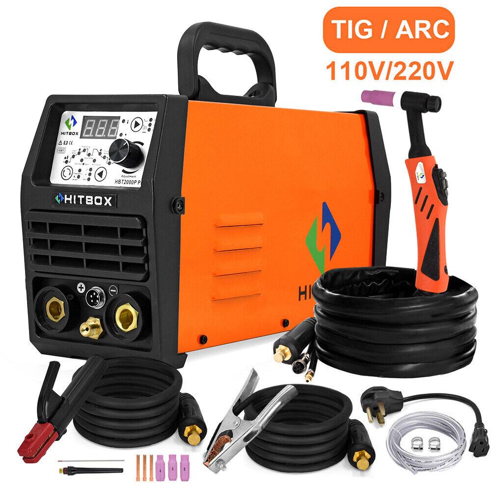 HITBOX 200A Digital HF Pulse TIG Welder 110V/220V  ARC Stick TIG Welding Machine. Buy it now for 249.95