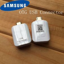 OEM Samsung USB Connector OTG Adapter, USB A to micro-USB, white