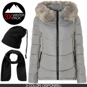 Piumino donna ARTIKA N006 + Winter Pack sciarpa e cappello/scaldacollo