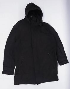 NEXT-Homme-taille-L-en-coton-melange-gris-a-capuche-Manteau