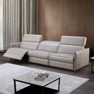 Details about Living Room Sofas Chairs Home Furnitures 3-Seater Leather  Reclining Modern Couch