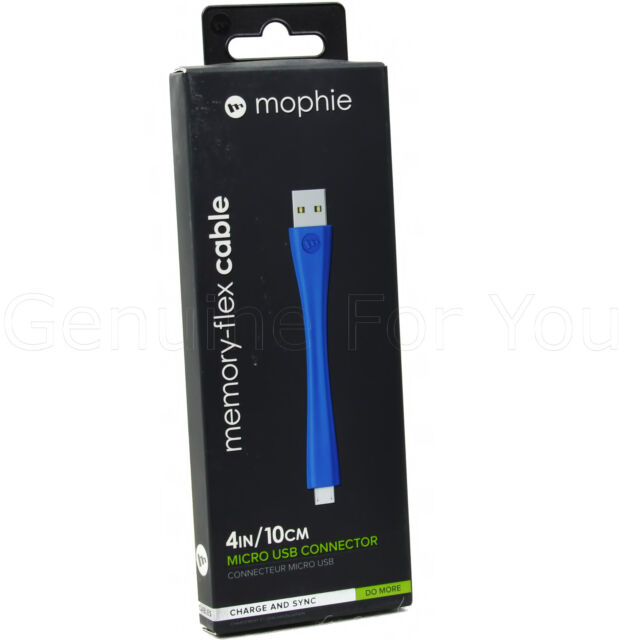 cheap for discount c411c f3bcd Smartphones Tablets mophie Memory Flex 10cm Micro USB Data Sync Charge Cable