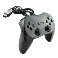 New Black Pro Classic Game Controller Remote For Nintendo Wii WiiU