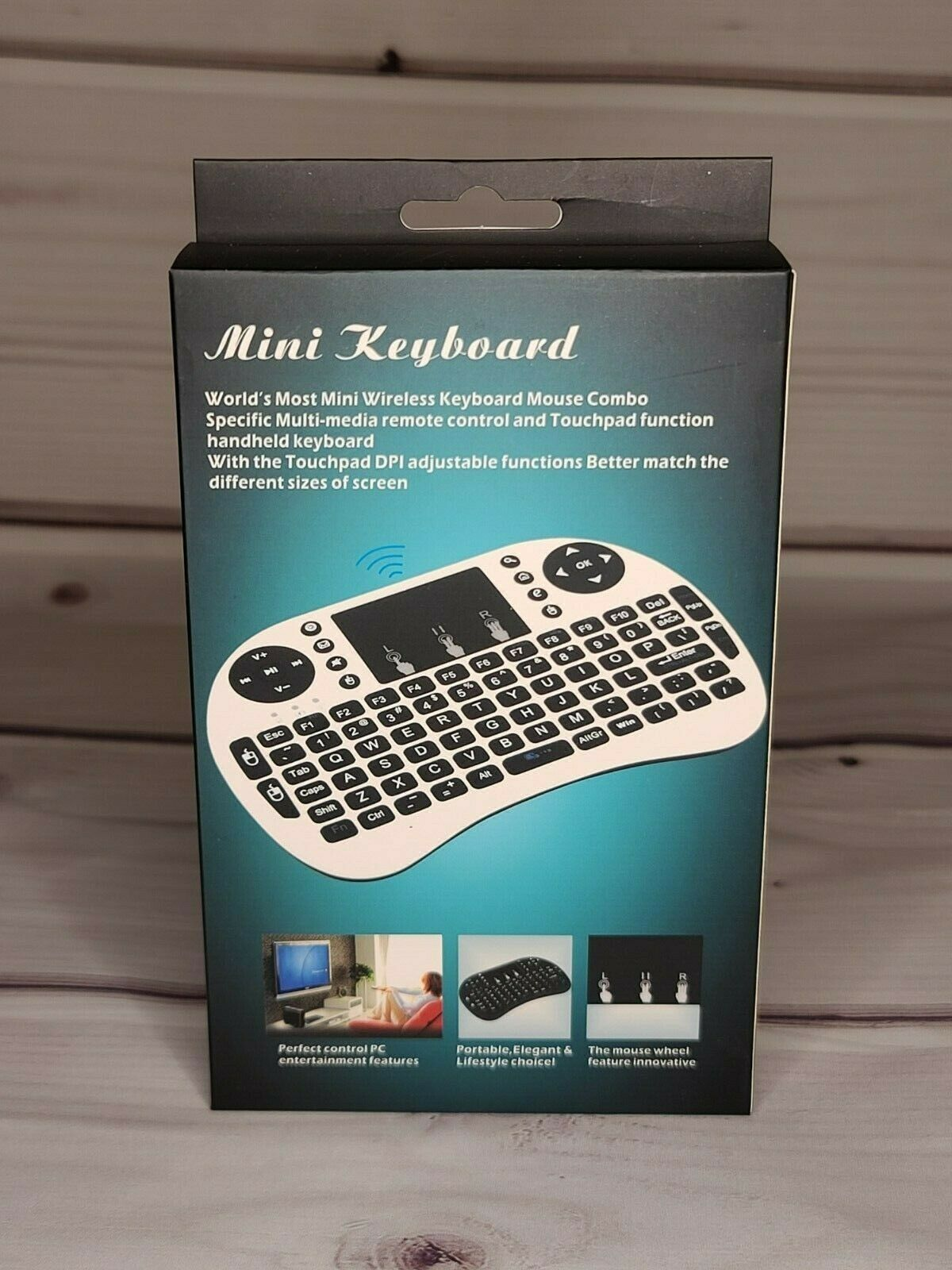 Black Wireless Mini Ultra Slim Keyboard and Mouse For Easy Smart TV Contol for Samsung 49MU6220 49 Smart TV