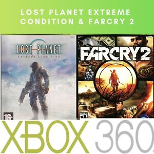 XBOX-360-Games-2-Farcry-2-And-Lost-Planet-Extreme-Condition-LOW-COST-SHIPPING