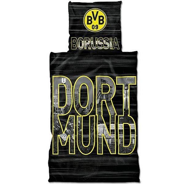 BVB Borussia Dortmund Bettwäsche Stadtbuchstaben 135 x 200