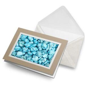 Greetings-Card-Biege-Turquoise-Gemstone-Stone-Blue-Green-24343