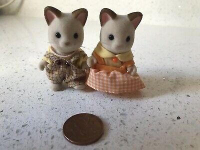 2 Gatti Sylvanian Families Statuine Bambole-mostra Il Titolo Originale Vendite Economiche