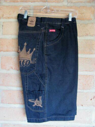 Vintage 90s JNCO Jeans Black Crown Skater Shorts s