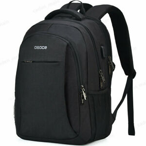 Black-Gray-Men-Women-Outdoor-Travel-Bag-Backpack-Waterproof-School-Laptop-Bag