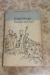 Decline-amp-Fall-by-Evelyn-Waugh-60s-Penguin-paperback-book
