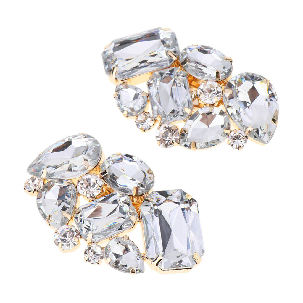 2PC Diamante Colorful High Heel Shoe Clips Charms Shoe Buckle Hat Bag Decor