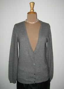 36 Cardigan gilet Dg Easy cashmere cashmere Wear cardigan 38 in grigio 100 zz0wq
