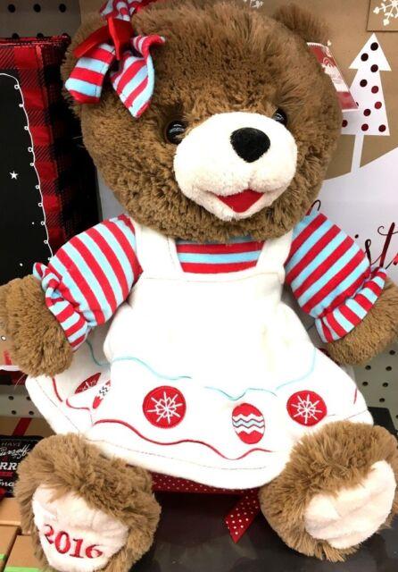 """2018 WALMART CHRISTMAS SNOWFLAKE TEDDY BEAR WHITE BOY 20/"""" WHITE//RED OUTFIT NWT!"""