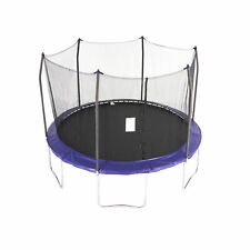 Skywalker Trampolines 12 Foot Round Outdoor Trampoline with Enclosure, Blue
