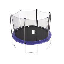 Skywalker Trampolines 12 Foot Round Outdoor Trampoline with Enclosure, Blue
