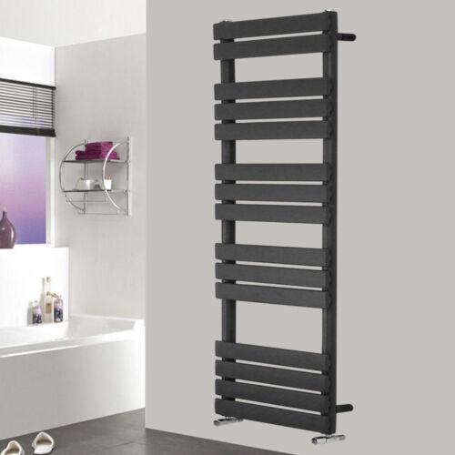 Designer Flat Heated Towel Rail Bathroom Warmer Radiator Anthracite 1600x600mm