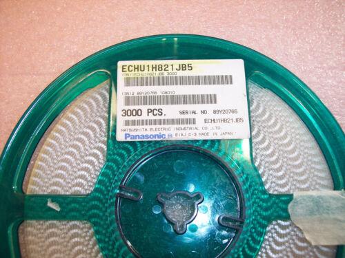 ECHU1H821JB5 PANASONIC 820pf 50V 0805 STACKED METALLIZED PPS FILM 200 QTY