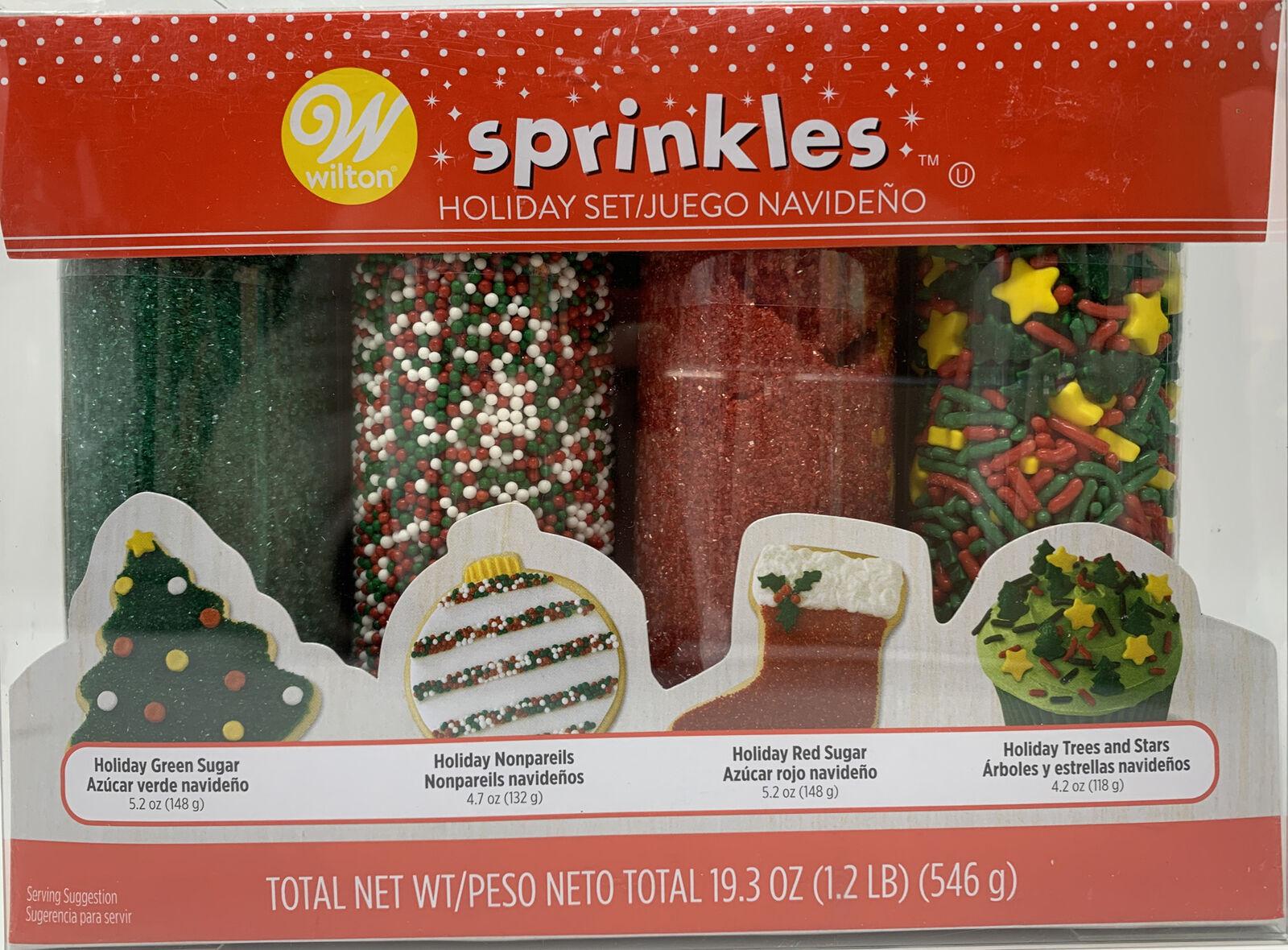 Wilton Sugar Sprinkles 4//Pkg Christmas